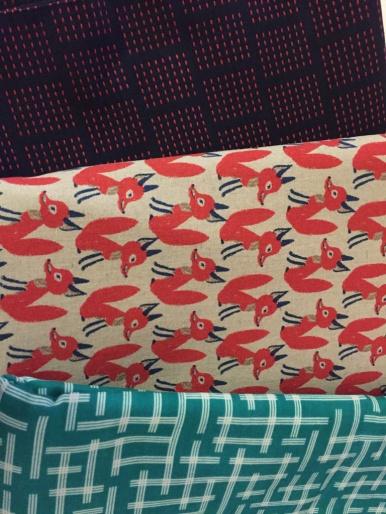 My starting fabrics