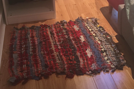 The finished rug